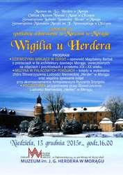 Spotkanie adwentowe związane z 212 rocznicą śmierci J.G. Herdera przypadającą 18 grudnia.