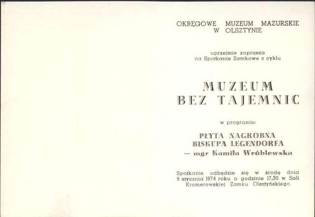 Muzeum bez tajemnic – Płyta nagrobna biskupa Legendorfa – Kamila Wróblewska - full image