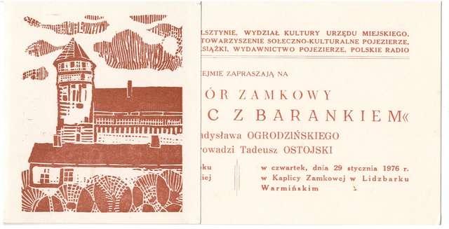 Wieczór zamkowy – Proporzec z barankiem z udziałem Władysława Ogrodzińskiego - full image