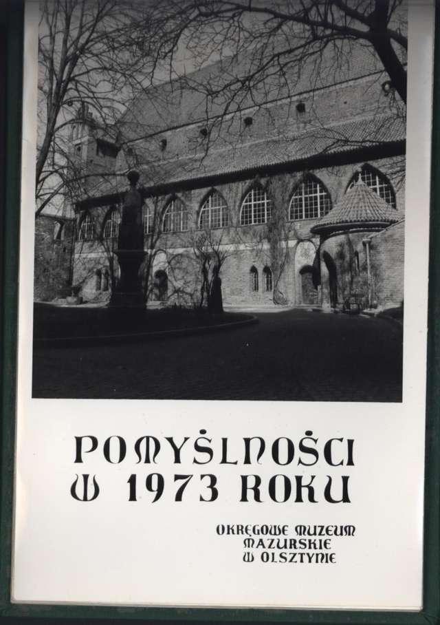 Kalendarz muzealny wydany na 1973 rok - full image