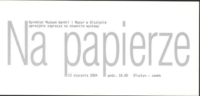 Wystawa – Na papierze - full image