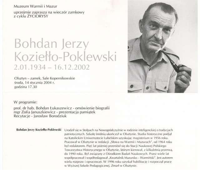 Wieczory zamkowe - cykl Życiorysy (Bohdan Jerzy Koziełło–Poklewski) - full image
