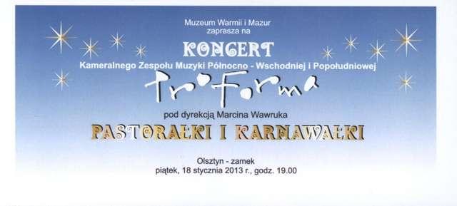 """Koncert zespołu Pro Forma """"Pastorałki i karnawałki"""" - full image"""