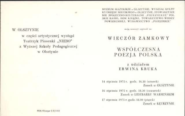 Wieczór zamkowy – Współczesna poezja polska - full image