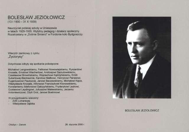 Wieczory zamkowe - cykl Życiorysy (Bolesław Jeziołowicz) - full image
