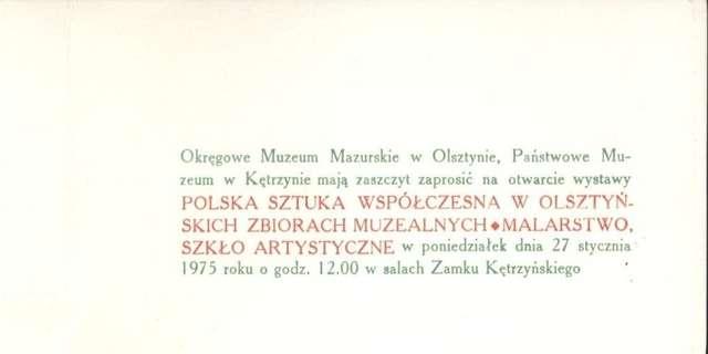 Wystawa – Polska sztuka współczesna w olsztyńskich zbiorach muzealnych + malarstwo, szkło artystyczne  - full image