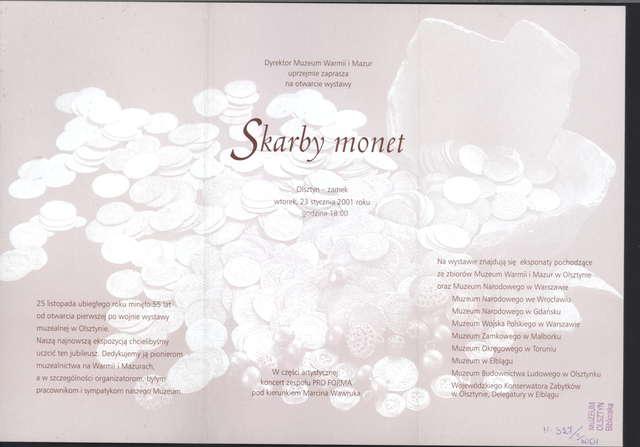 Wystawa – Skarby monet - full image