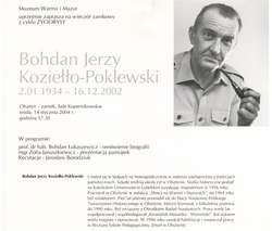 Wieczory zamkowe - cykl Życiorysy (Bohdan Jerzy Koziełło–Poklewski)
