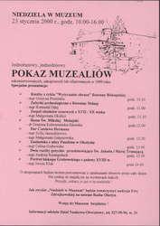Pokaz muzealiów zakonserwowanych, zakupionych lub ofiarowanych w 1999 r.