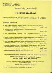Pokaz muzealiów zakonserwowanych, zakupionych lub ofiarowanych w 1998 r.