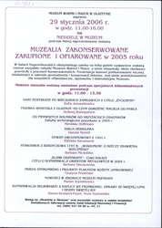 Pokaz muzealiów zakonserwowanych, zakupionych lub ofiarowanych w 2005 r.