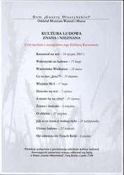 Od 18 I 2005 – Kultura ludowa znana i nieznana – Cykl spotkań z etnografem Elżbietą Kaczmarek