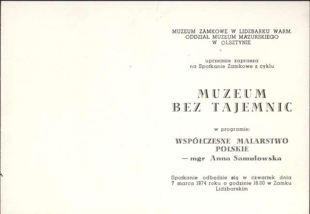 Muzeum bez tajemnic – Współczesne malarstwo polskie – Anna Samulowska - full image
