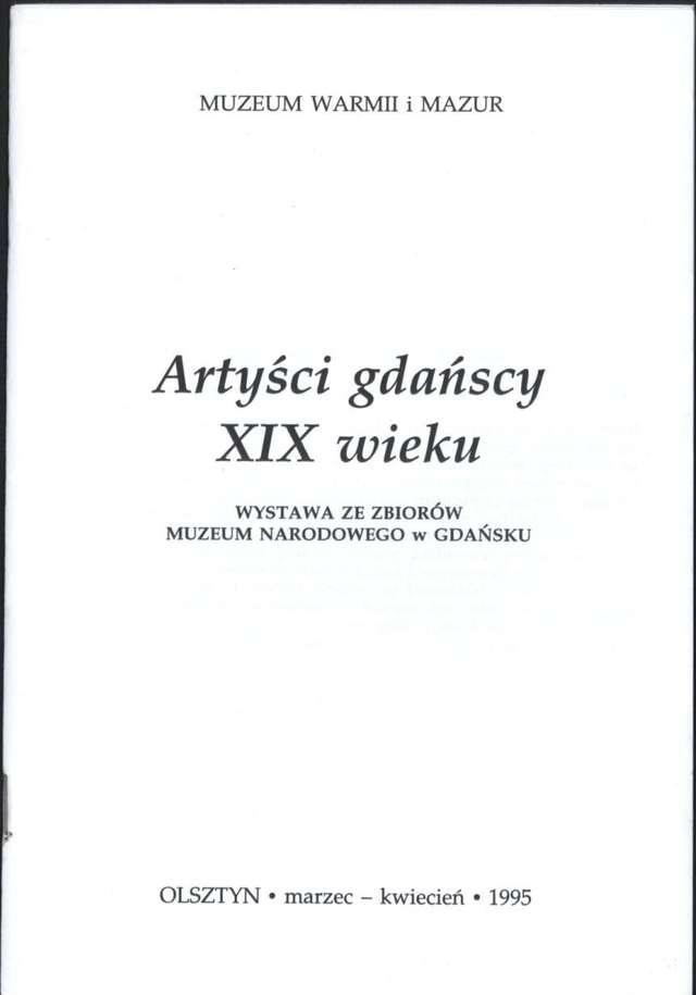 Wystawa – Artyści gdańscy XIX wieku - full image