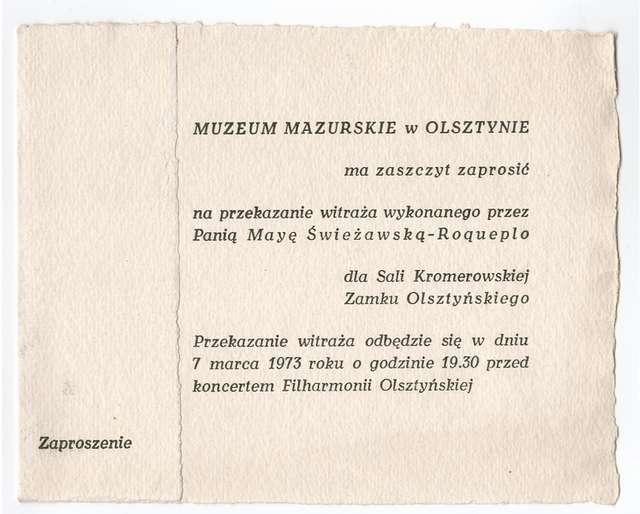 Przekazanie witraża wykonanego przez Mayę Świeżawską - Roqueplo - full image
