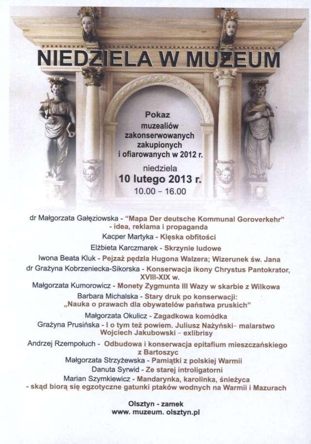 Pokaz muzealiów zakonserwowanych, zakupionych i ofiarowanych w 2012 r.  - full image