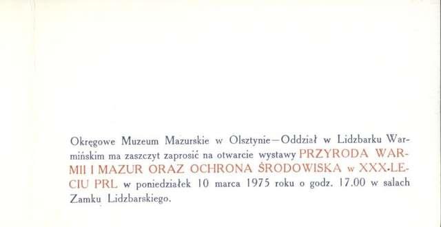 Wystawa – Przyroda Warmii i Mazur oraz ochrona środowiska w XXX-leciu PRL - full image