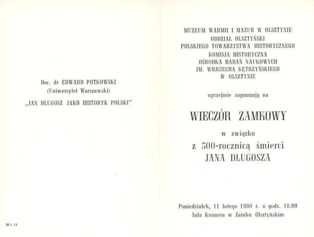 Wieczór zamkowy z związku z 500 – rocznicą śmierci Jana Długosza - full image