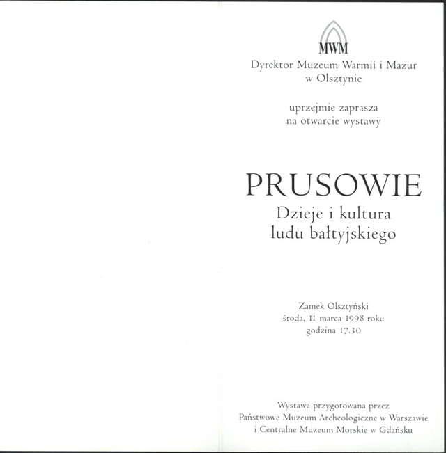 Wystawa – Prusowie. Dzieje i kultura ludu bałtyjskiego - full image