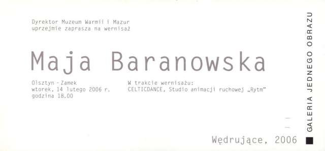 Galeria Jednego Obrazu – Maja Baranowska  - full image