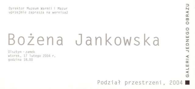 Galeria Jednego Obrazu – Bożena Jankowska - full image