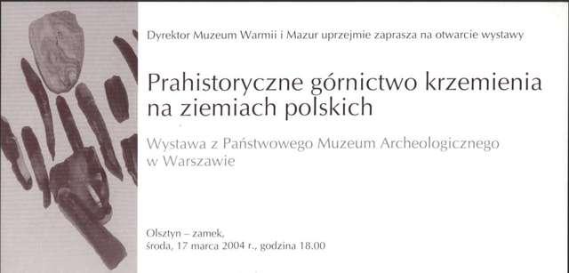 Wystawa – Prahistoryczne górnictwo krzemienia na ziemiach polskich - full image