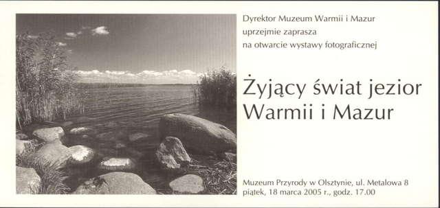 Wystawa – Żyjący świat jezior Warmii i Mazur  - full image