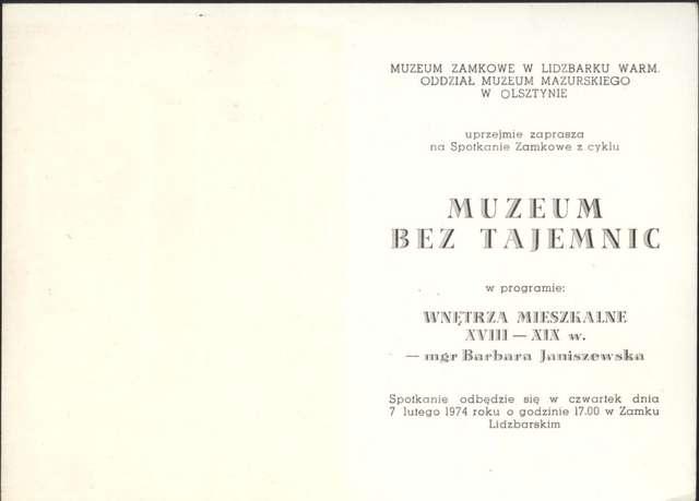 Muzeum bez granic – Wnętrza mieszkalne XVIII – XIX w. – Barbara Janiszewska - full image