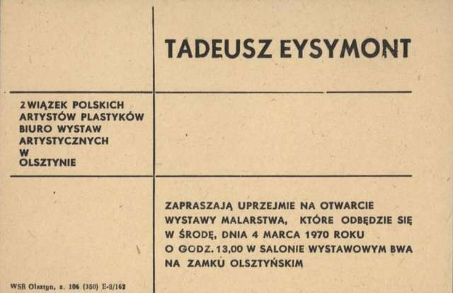 Wystawa Malarstwa Tadeusza Eysymont - full image
