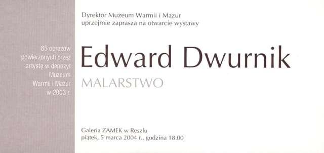 Wystawa – Edward Dwurnik Malarstwo - full image