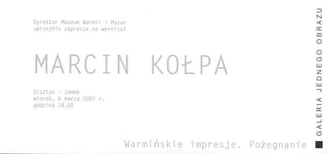 Galeria Jednego Obrazu – Marcin Kołpa - full image