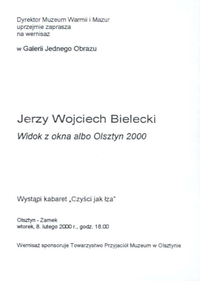 Galeria Jednego Obrazu – Jerzy Wojciech Bielecki  - full image