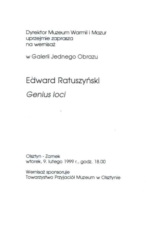 Galeria Jednego Obrazu – Edward Ratuszyński  - full image
