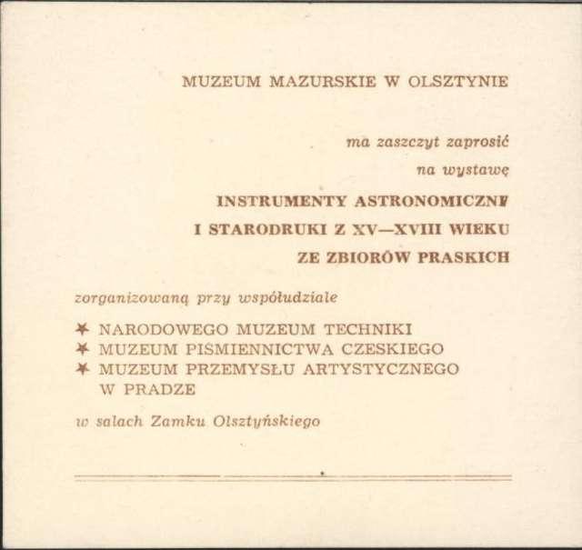 Wystawa – Instrumenty astronomiczne i starodruki z XV – XVIII w. ze zbiorów praskich - full image