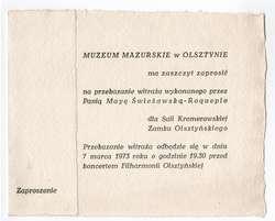 Przekazanie witraża wykonanego przez Mayę Świeżawską - Roqueplo