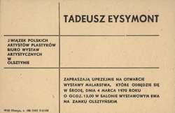 Wystawa Malarstwa Tadeusza Eysymont