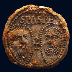 Bulla ołowiana papieża Marcina V (1417–1431),  Rzym, dwór papieski, odlew o średnicy 3,8 cm