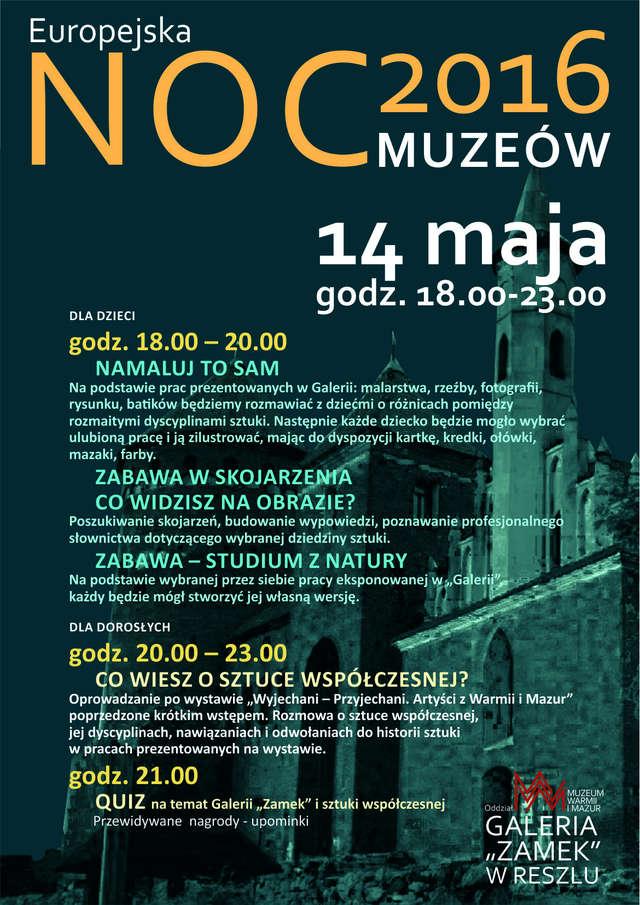 Europejska Noc Muzeów w Galerii Zamek w Reszlu - full image