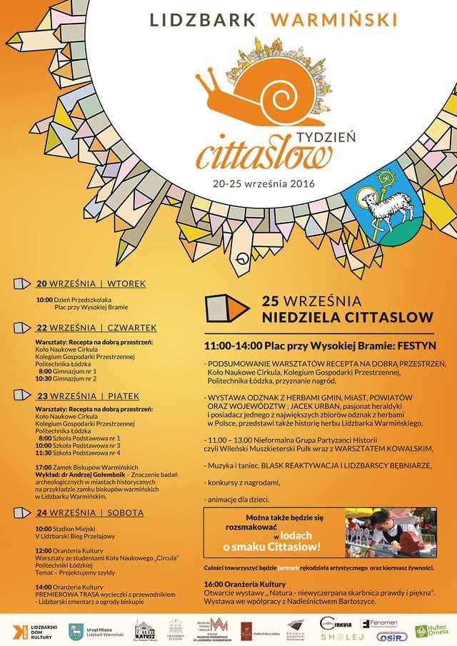 Tydzień Cittaslow 20-25 września, w Lidzbarku Warmińskim, zapraszamy! - full image