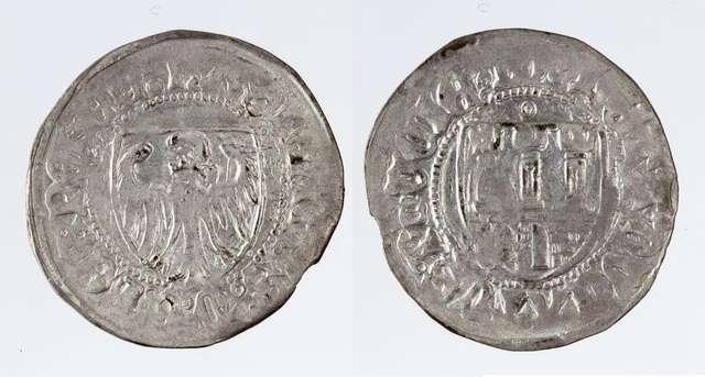 Pamiątki ze zbiorów Gabinetu Numizmatycznego Muzeum Warmii i Mazur w Olsztynie w 550-lecie II pokoju toruńskiego - full image