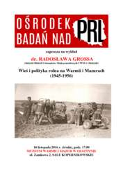 Wieś i polityka rolna na Warmii i Mazurach (1945-1956)