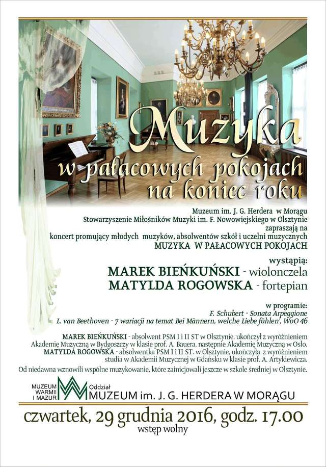 Muzyka w pałacowych pokojach na koniec roku - full image