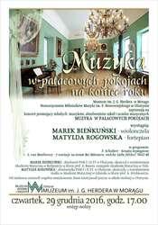 Muzyka w pałacowych pokojach na koniec roku