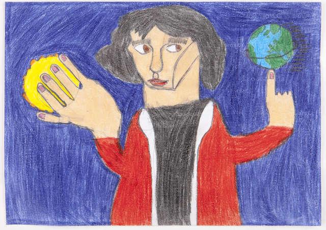 """Jeremi Jaźwiński (12 lat) Niepubliczna Szkoła """"Absolwent"""" w Olsztynie Tytuł pracy: Wstrzymał słońce ruszył Ziemię…  - full image"""