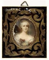 Portret młodej kobiety. Miniatura II połowa XIX wieku