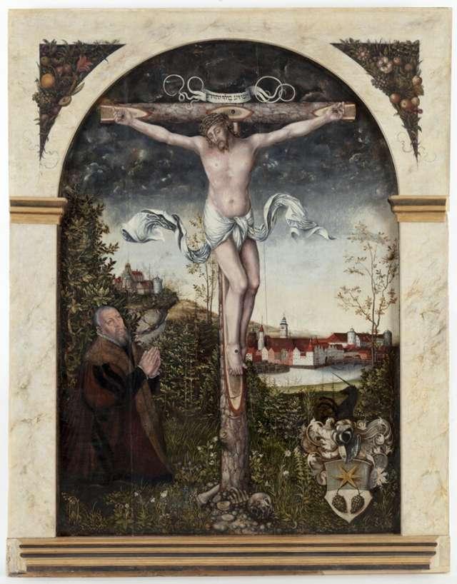 Epitafium Hansa Nymptscha (1476-1556) z przedstawieniem Chrystusa Ukrzyżowanego  - full image