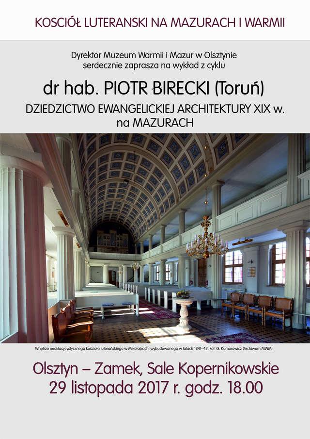 Wykład z cyklu Kościół luterański na Mazurach i Warmii - full image