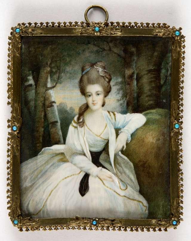 Portret młodej kobiety - full image