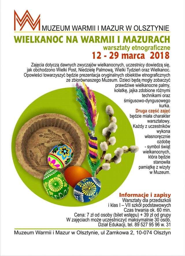Wielkanoc - zamek w Olsztynie - full image