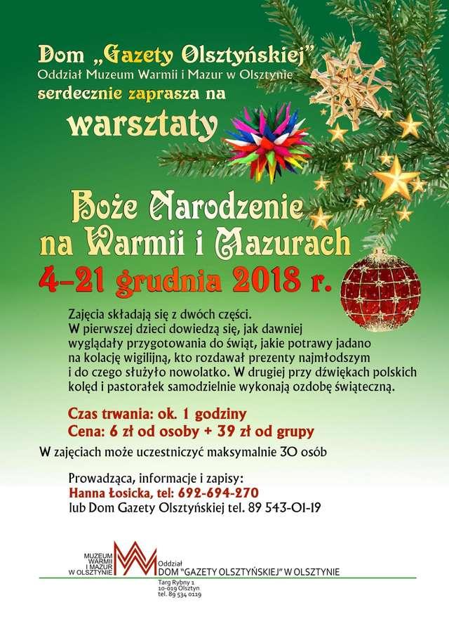 Warsztaty edukacyjne w Domu Gazety Olsztyńskiej - full image